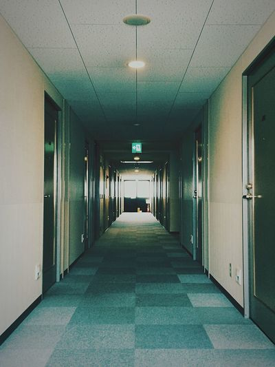 Empty corridor of hotel