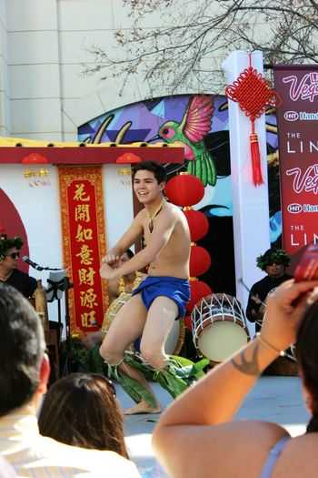 Under Pressure Chinease New Year celebrations at the linq. Pressure Dance Tradtional