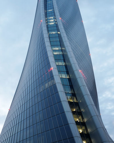 Zaha Hadid Architecture Built Structure Low Angle View City Building Exterior Modern Office Building Exterior Building Sky Office Skyscraper Tall - High Reflection Tower Glass - Material No People Nature Day Cloud - Sky Outdoors Glass High Financial District  Torre Hadid Lo Storto The Architect - 2019 EyeEm Awards
