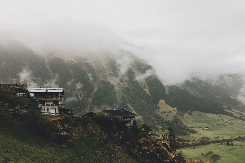 Mountain view Mountain Fog Landscape Nature Moutainlove Nature Rainy Days Hiking Hikingadventures Vscocam VSCO