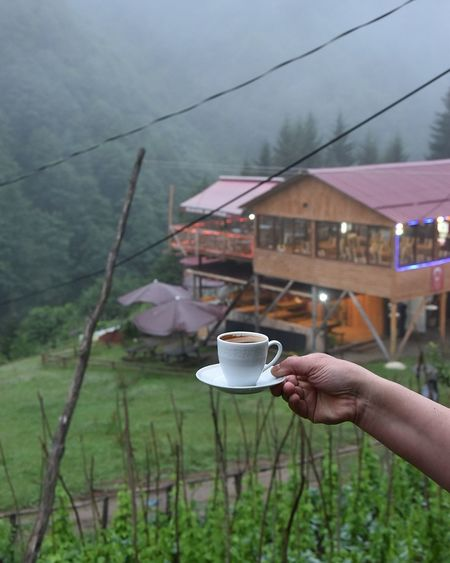 Human Hand Human Body Part Cup Coffee Cup Coffee - Drink One Person Drink Food And Drink Tea - Hot Drink Winter Holding Outdoors People Adult Lifestyles Adults Only Rural Scene Mountain Food Only Women