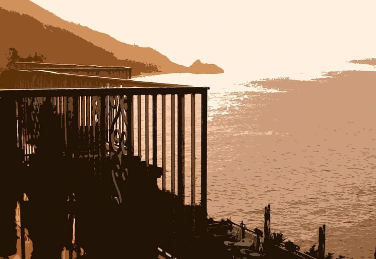 Praiano🌷balcony Mountain Sunset Sea Beach Outdoors Vacations Landscape Day Water Nature Sky No People Close-up