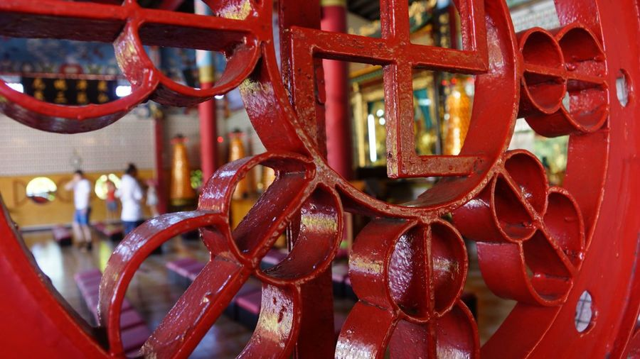 Straight From The Camera The Purist (no Edit, No Filter) No Edit/no Filter Swastika Gammadion Cross Art Red Temple Chinese Temple Kota Kinabalu Sabah Borneo