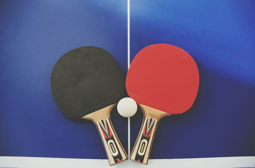 Red Blue Blank No People Close-up Day Pingpong Tabletennis Leisure Activity Sports Sports Photography