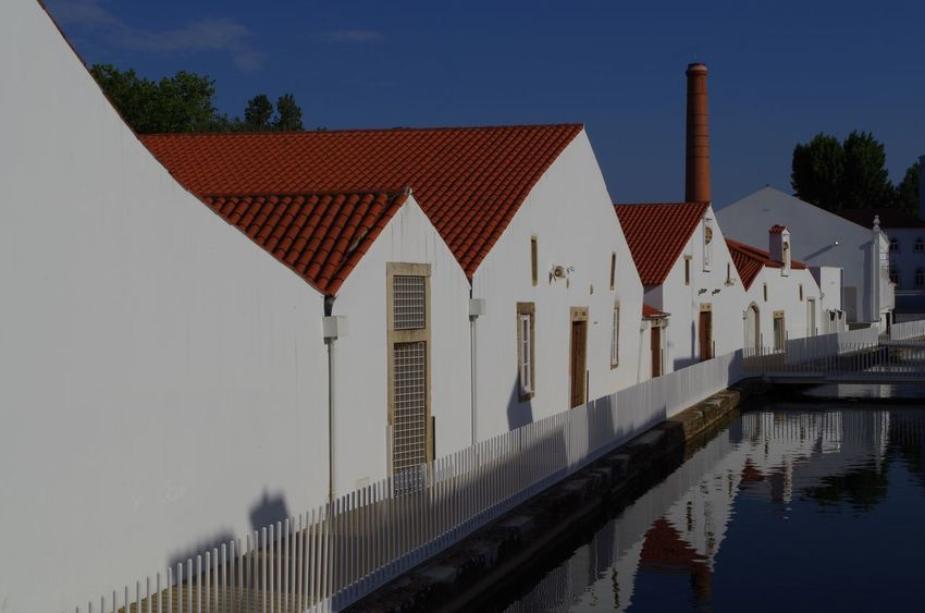 Chimney Doors Portugal Blue Sky Blue Sky And Clouds Blue Sky Red Roof Blue, Sky, Heaven, Clouds, Atmosphere, Colorful, Azure, Culture Door House On River Houses And Windows Red Roof Red Roofs River Tiny House  Tiny Houses White Whitehouses Window Windows
