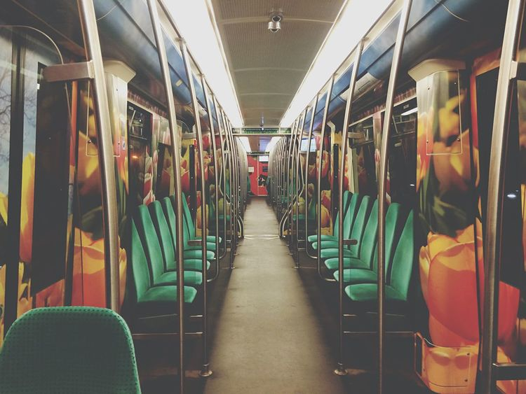 Emptiness. Metro Subway Empty Road City Rotterdam Urban