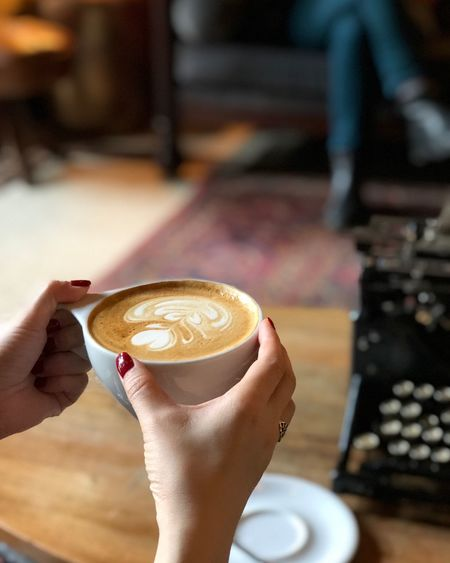 Coffee Drink Coffee - Drink Holding Human Body Part Food And Drink Refreshment Hand Human Hand One Person Coffee Cup Mug Cup Hot Drink Cafe Cappuccino Indoors