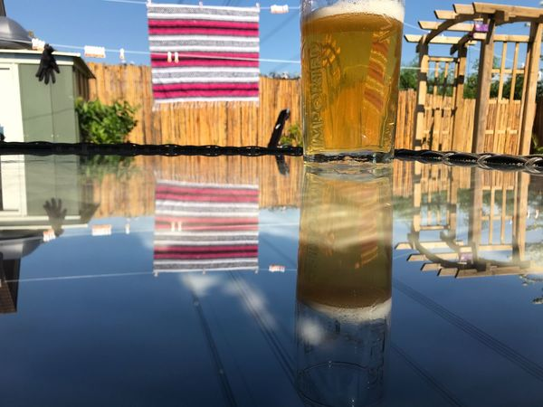 Reflect Reflection Sky Built Structure Glass Outdoors Refreshment Glass - Material Sunlight