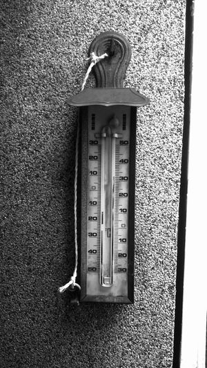 Architecture Balck And White Blackandwhite Built Structure Celsius Close-up Day Door Entrance Indoors  Metal Metallic Monochrome Nature No People Number Old Old Thermometer Protection Safety Security Textured  Thermometer Wall