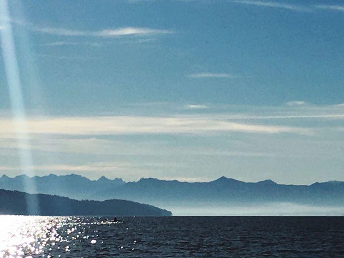 Lake of Starnberg Tranquil Scene Summer Scene Blue Sunlight Lake View Lakeshore Mountain Glimmering Water Sunlight