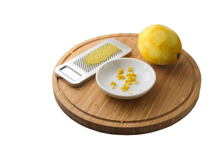 Cooking Isolated Baking Citrus Fruit Cut Out Cutting Board Food Food And Drink Freshness Fruit Grated Grater Healthy Lemon Organic Peel Preparation  Recipe Rind Studio Shot Vitamin White Background Wood - Material Yellow Zest