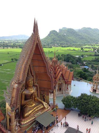 วัดถ้ำเสือ Religion Architecture Built Structure No People Spirituality Place Of Worship Landscape Sky Outdoors Mountain Day
