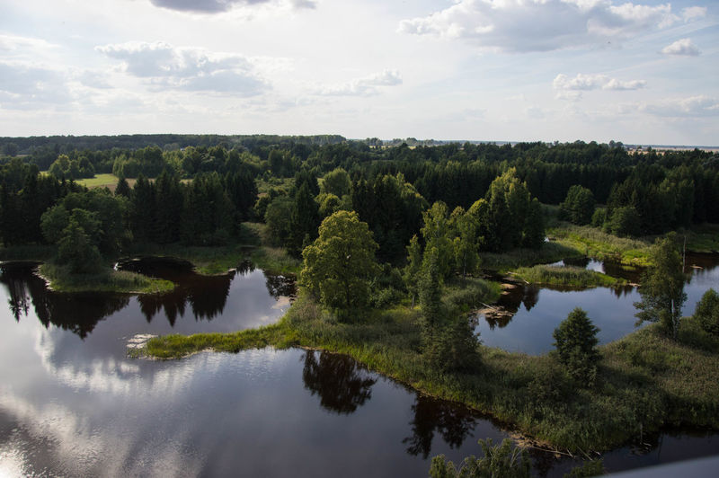 Lithuania Beauty In Nature Birzai Cloud - Sky Day Green Color Landscape Nature No People Outdoors Reflection Scenics Sky Tranquil Scene Tranquility Tree Water Waterfront