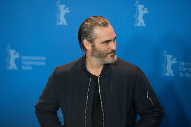 Berlin, Germany - February 20, 2018: US actor Joaquin Phoenix poses at the 'Don't Worry, He Won't Get Far on Foot' photo call during the 68th Berlinale International Film Festival 2018 Actor American Don't Worry, He Won't Get Far On Foot Famous Film Festival Joaquin Phoenix Man Photocall Adult Adults Only Beard Berlinale Berlinale 2018 Berlinale Festival Berlinale2018 Berlinale68 Male Mature Adult One Person People Photo Call Portrait Posing Posing For The Camera Waist Up