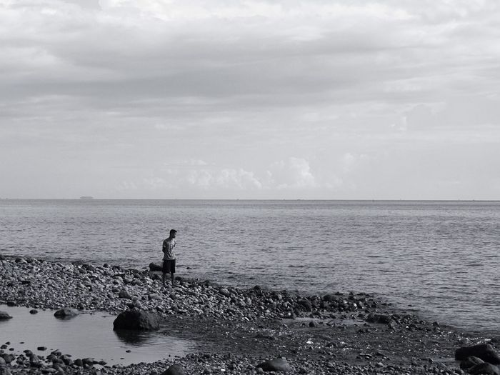 Man By The Beach Solitude Solitary Moments Solitary Liesurely Walk Walk By Myself Walk By The Beach Walking By The Beach Beach Photography Beach Walk Beach Time Afternoon By The Beach Black & White Black And White Photography Black & White Photography