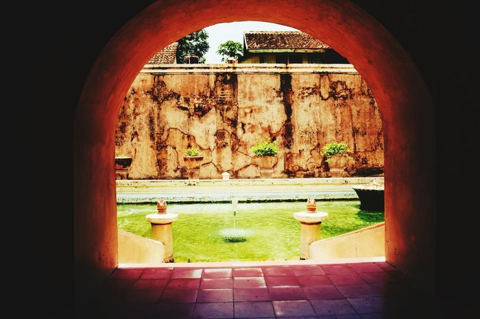 private pool Tamansariyogyakarta Editorial  EyeEmNewHere EyeEm Selects Architecture Arch Built Structure No People Indoors  Water Sunlight Day