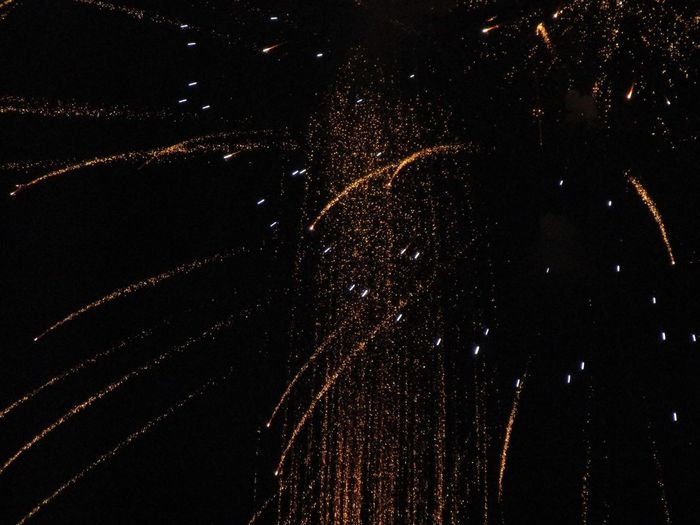 Firework Display Outdoors Celebration Black Background Night Sky Illuminated