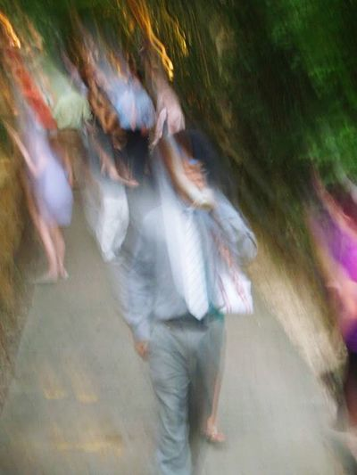 Life's a blur Beautiful Weird Fuzzy Lifesablur Photooftheday Artsy Blurred Motion Motion Long Exposure Outdoors Day Real People Full Length Women Togetherness Men Adult People Adults Only