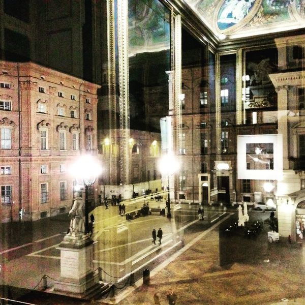 From that window EyeEmNewHere Art is Everywhere Mapplethorpe Inside Turin Italy Art Built Structure Illuminated Night Architecture Street Building Exterior City