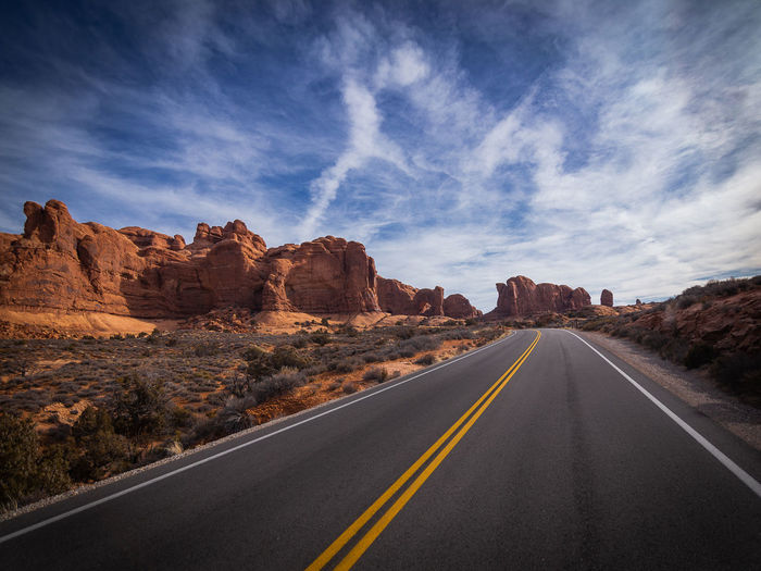 Down the road in arches national park, ut