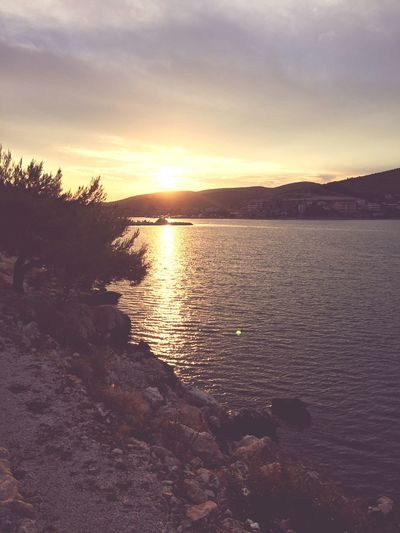 Sunset Sun Croatia Sea Taking Photos Relaxing Hanging Out Holiday Summer