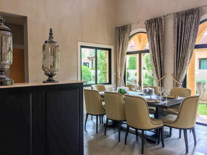 Furniture in modern home