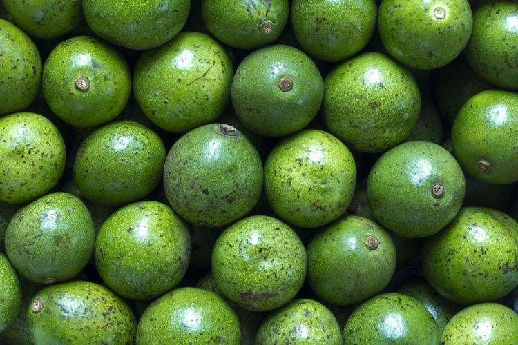 Full frame shot of mangoes at market for sale