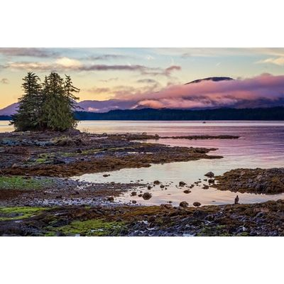 Sunrise at Tongass Narrows Alaska Ketchikan Travel Latergram sunrise landscapes