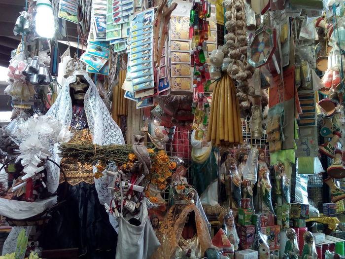 This Is Latin America Market Traditional For Sale Retail  Native American Indian Saint No People DIA DE MUERTOS Guerrero Mexico Cultures Popular Market