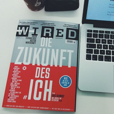 The first edition of the new german Wired can out today. It's a beauty!