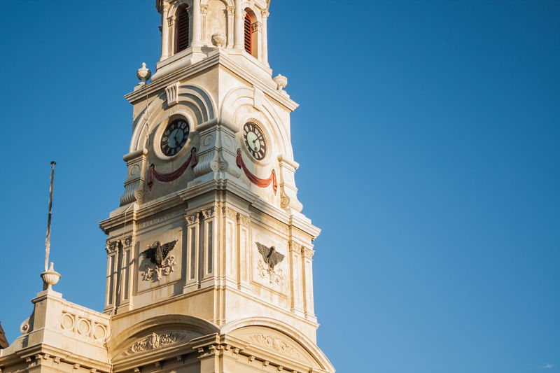Church in Fremantle, WA Architectural Feature Architecture Australia Building Exterior Built Structure Church Clock Tower Eyeem Photo Fremantle  Low Angle View Minimalism Perth Tower Town Hall Travel Destinations Finding New Frontiers Miles Away The Architect The Street Photographer