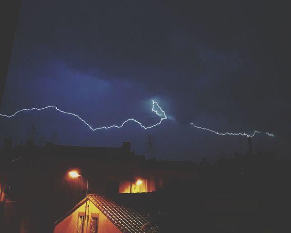 Storm Lightning Thunderstorm Night Weather Storm Cloud