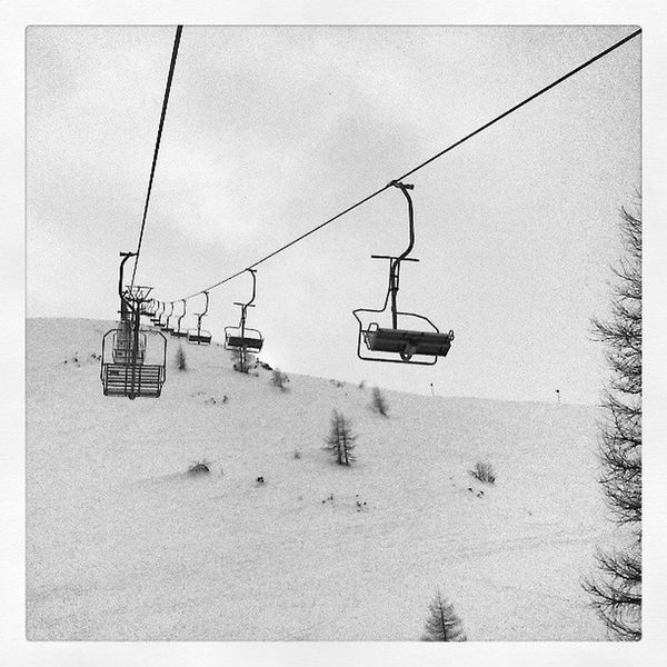 Old Chairlift Zauchensee Snow winter austria cold mountain clouds