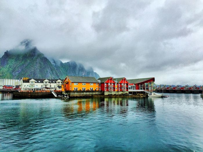 iPhone photo taken July 2016 in Svolvær. Svolvær Lofoten Lofoten Islands Lofoten Norway IPhoneography IPhone Landscape Village Village Life Ocean Mountain Mountains HDR Hdr Edit Hdr_Collection Architecture Cloud - Sky Water No People Rain Rainy Days Vesterålen First Eyeem Photo