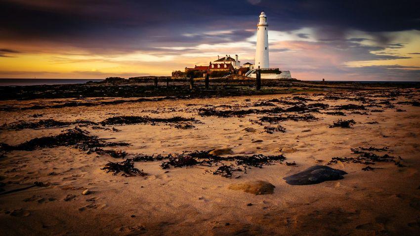 First Eyeem Photo St Marys Lighthouse Whitley Bay Sunset Beach Sand Rocks
