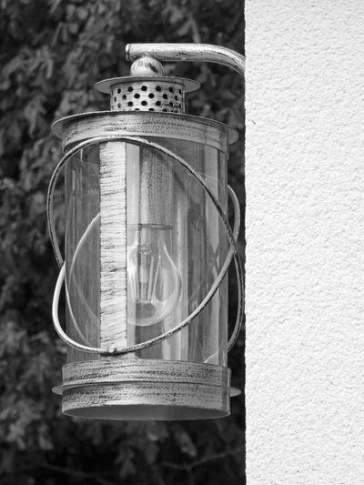 My best photography for a LAMP fixed black and white Lighting Equipment BnW Old Metal Styled One One Lamp Transparency Bulb Focus On Foreground Full Lenght Glass Material Metallic Old Metal Old Style
