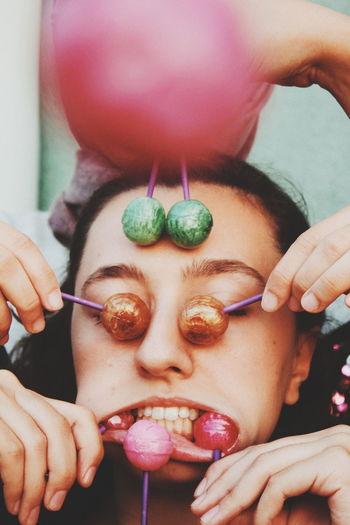 Art costing less than 1$ Art Art And Craft Lollipop Weird Human Lips Young Women Women Human Face Human Hand Portrait Headshot