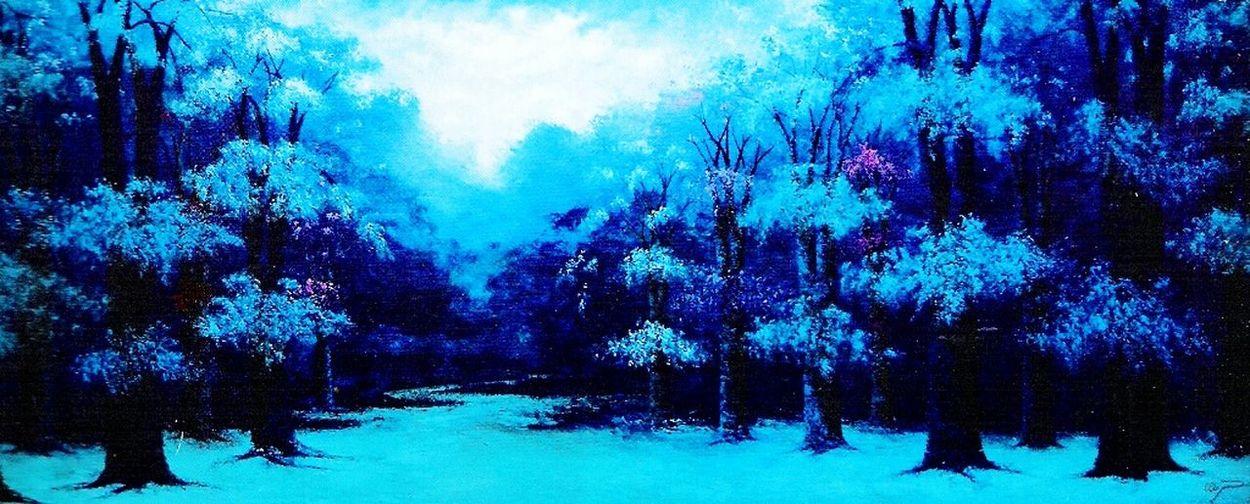 Paisaje.. Azul en Invierno
