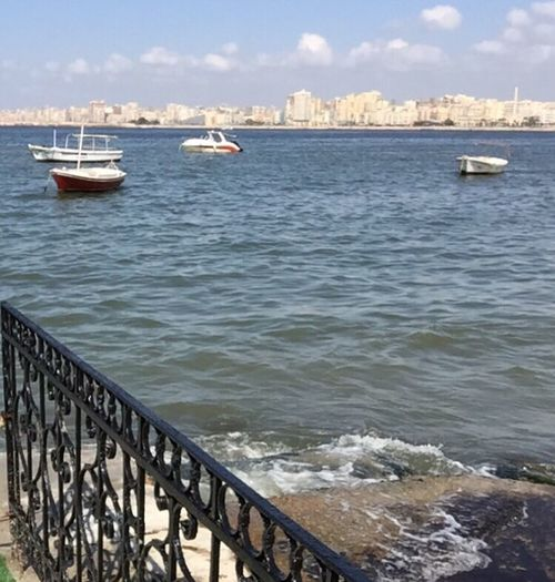 Alexandria Egypt Mediterranean Sea Boats Sea Sky Nature City Clouds EyeEmNewHere Travel Destinations Visit Egypt