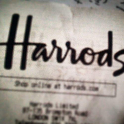 Mum back from @harrods Clothes SW1X7XL Kensington Chelsea knightsbridge Brompton London Harrods food shoes