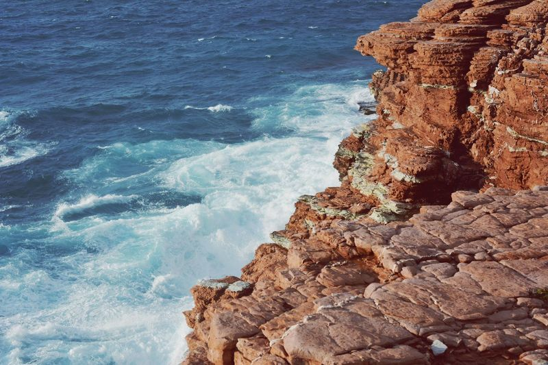 Palermo Sicilia Sicily Italia EyeEm Selects Water Sea Rock Rock - Object Solid Beauty In Nature No People Rock Formation Motion Blue Aquatic Sport Nature Land Day Tranquility Beach High Angle View Outdoors Wave Scenics - Nature