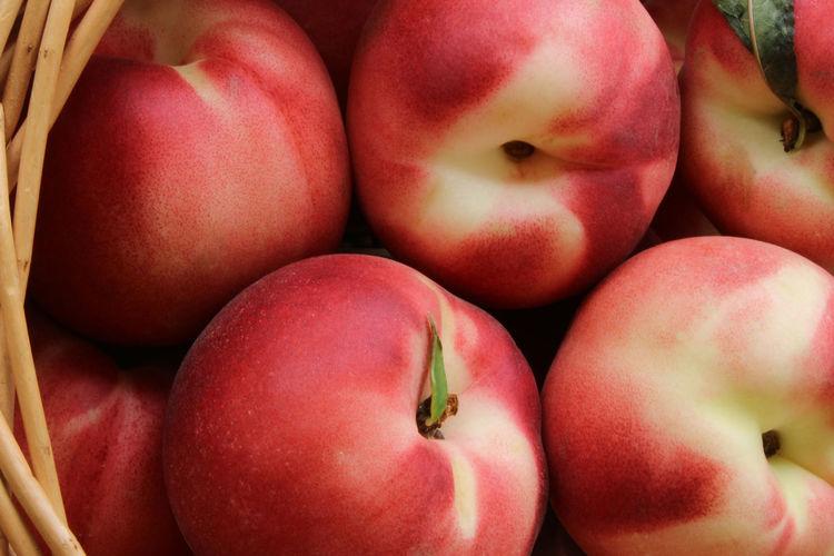 Full frame shot of apples for sale in market