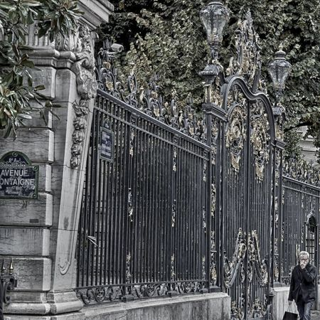 Architecture Avenue Montaigne  Day Forged Steel Gate Holiday Lifestyle Luxury Luxurylifestyle  No People Outdoors Paris ❤ Perspective Photography Steel Urban Exploration