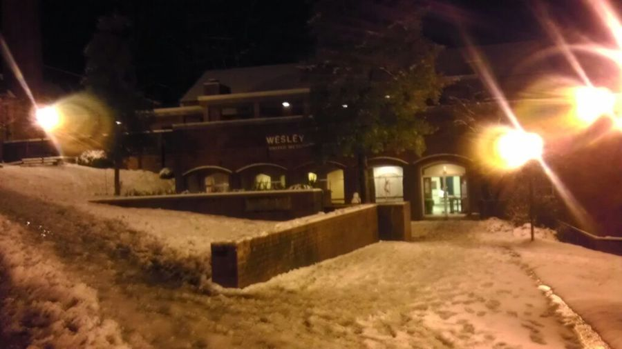 Wesly Foundation At Night