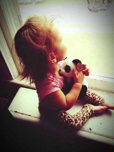 MyBabyGirl  Favoritepanda Lookingoutthewindow Shessoperfecttome Mommyofprincess❤😘😍 First Eyeem Photo