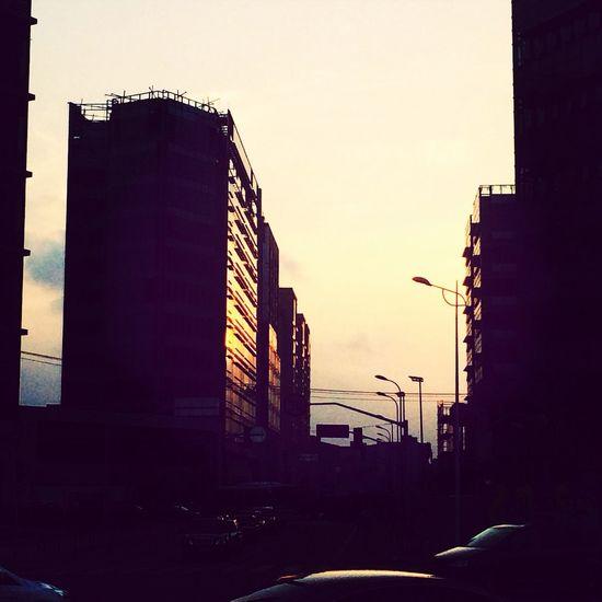 夕阳,下班