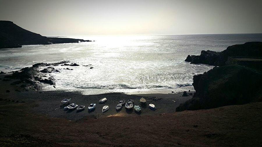 Boat trip to heaven Rocky Coastline Coastline Seascape Cliff Ocean Calm Rugged Stack Rock