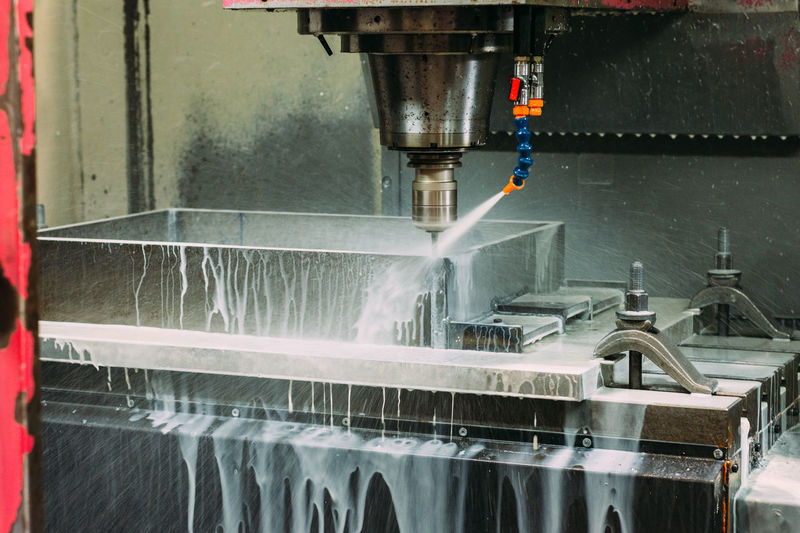 View of fountain in factory
