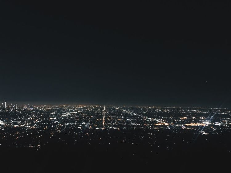 Night Illuminated Cityscape City No People Sky Building Exterior Architecture Outdoors Built Structure Scenics Nature Beauty In Nature Losangeles Hollywood Griffith Observatory