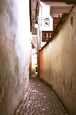 Architecture Brasov Building Exterior Built Structure Communication Day Lane No People O;l Outdoors Romania Street Photography Streetphotography The Way Forward